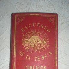 Libros antiguos: LIBRO PRIMERA COMUNIÓN AÑO 1890; COLEGIO EL SALVADOR DE ZARGOZA. Lote 174225154