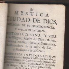 Libros antiguos: SOR MARÍA DE JESÚS DE ÁGREDA: MÍSTICA CIUDAD DE DIOS. TOMO VII. MADRID, 1762. SORIA. Lote 174527239