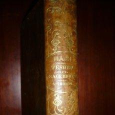 Libros antiguos: TESORO DEL SACERDOTE O REPERTORIO COSAS A SABER JOSE MACH 1868 BARCELONA QUINTA EDICION. Lote 174532324