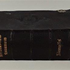 Libros antiguos: BREVIARIUM ROMANUM. S. SEDIS APOST. ET S. RITUUM CONGT. TYPOGR. ROMA. 1900.. Lote 174962863