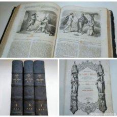 Libros antiguos: SCIO, LA SANTA BIBLIA (1853) - TOMOS I, III Y IV - BIBLIOTECA ILUSTRADA, GASPAR Y ROIG - 1 3 4. Lote 175182954