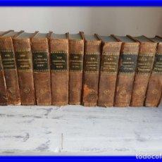Libros antiguos: LIBROS DEL AÑO CRISTIANO 11 VOLUMENES AÑO 1844 POR JUAN CROISSET. Lote 175358117