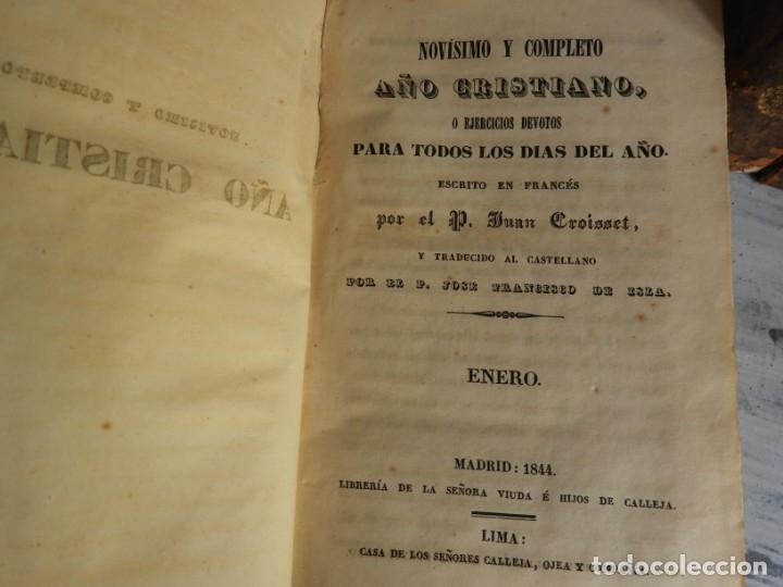 Libros antiguos: LIBROS DEL AÑO CRISTIANO 11 VOLUMENES AÑO 1844 POR JUAN CROISSET - Foto 4 - 175358117