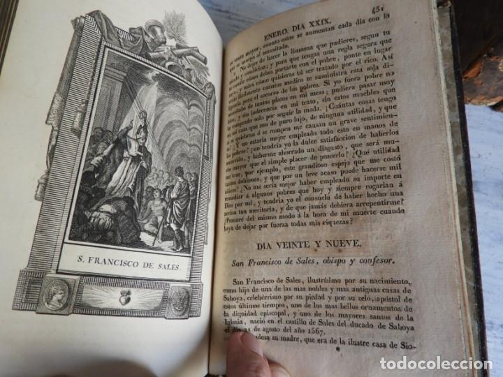 Libros antiguos: LIBROS DEL AÑO CRISTIANO 11 VOLUMENES AÑO 1844 POR JUAN CROISSET - Foto 6 - 175358117