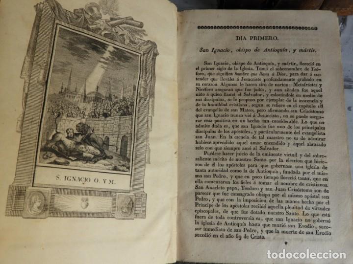 Libros antiguos: LIBROS DEL AÑO CRISTIANO 11 VOLUMENES AÑO 1844 POR JUAN CROISSET - Foto 7 - 175358117