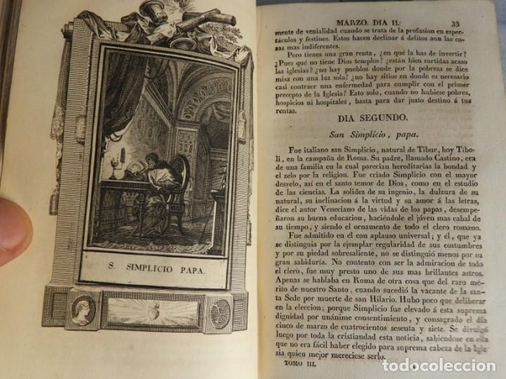 Libros antiguos: LIBROS DEL AÑO CRISTIANO 11 VOLUMENES AÑO 1844 POR JUAN CROISSET - Foto 8 - 175358117