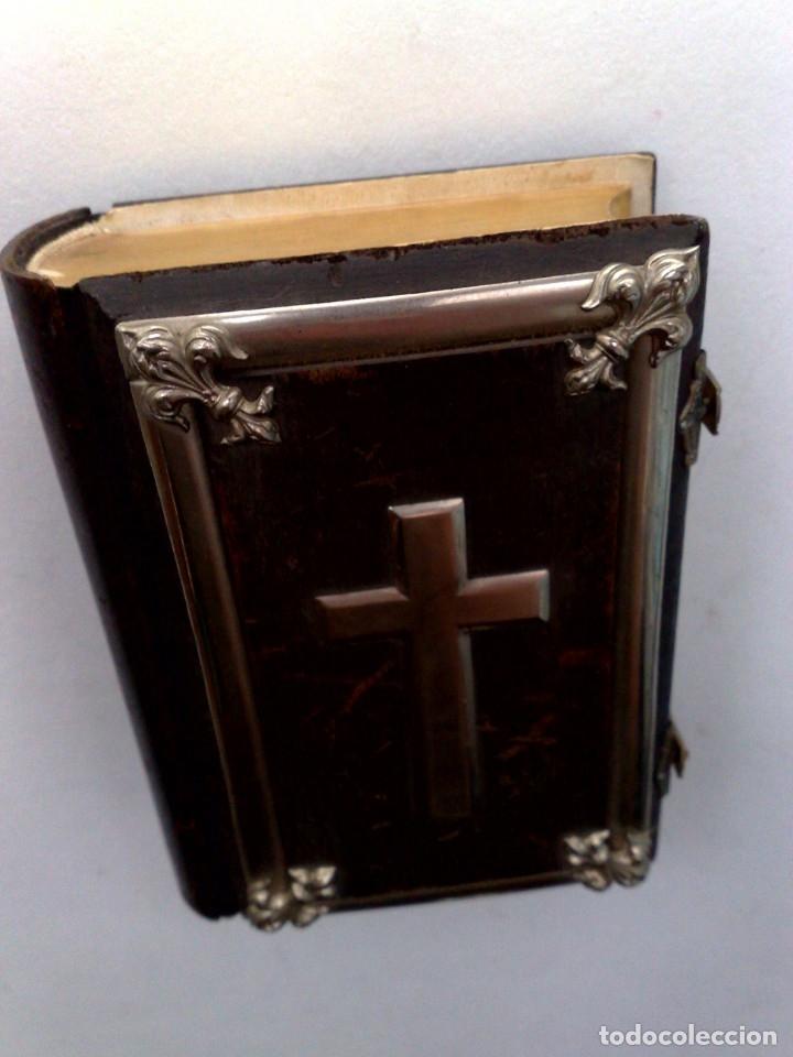 Libros antiguos: ANTIGUO DEVOCIONARIO,MISAL CON CIERRES METÁLICOS,COMPLETO 568 PAGINAS (VER DESCRIPCIÓN) - Foto 4 - 175391898