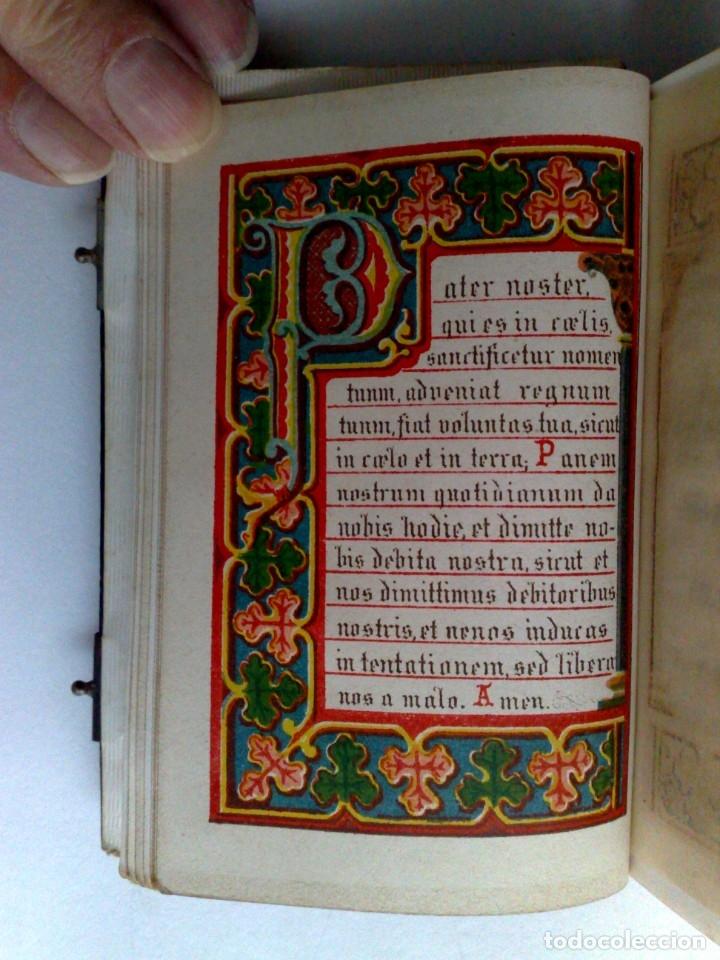 Libros antiguos: ANTIGUO DEVOCIONARIO,MISAL CON CIERRES METÁLICOS,COMPLETO 568 PAGINAS (VER DESCRIPCIÓN) - Foto 8 - 175391898