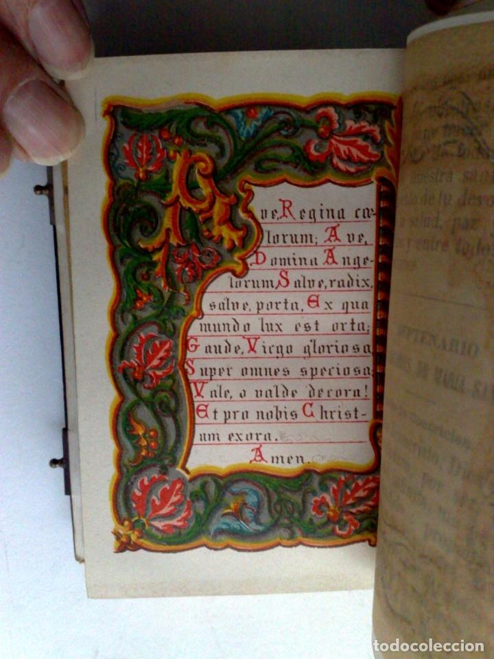 Libros antiguos: ANTIGUO DEVOCIONARIO,MISAL CON CIERRES METÁLICOS,COMPLETO 568 PAGINAS (VER DESCRIPCIÓN) - Foto 9 - 175391898