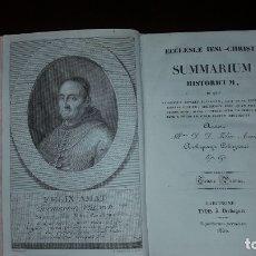 Libros antiguos: ECCLESIE IESU-CHRISTI, SUMMARIUM HISTORICUM - FELIX AMAT - 2 TOMOS - 1830. Lote 175944874