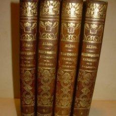 Libros antiguos: CUATRO TOMOS DE PIEL.HISTORIA UNIVERSAL DE LA IGLESIA...AÑO 1868...CON MAPAS DESPLEGABLES.. Lote 176349898
