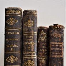Libros antiguos: LOTE 4 LIBROS RELIGIOSOS DEL SIGLO XIX - AÑOS 1808, 1860, 1862 Y 1882 - BUEN ESTADO GENERAL. Lote 176697037