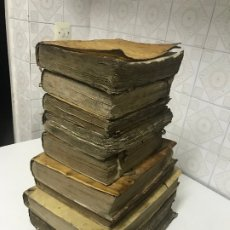 Libros antiguos: GRAN LOTE DE DIEZ LIBROS ENCUADERNADOS EN PERGAMINO RELIGIOSOS CONCILIO, TEHOLOGÍA, SUMA MORAL, 1780. Lote 176955140