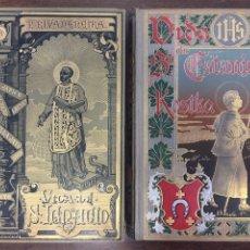 Libros antiguos: 2 PRECIOSOS LIBROS JESUITAS - VIDA S. IGNACIO LOYOLA / S. ESTANISLAO KOSTKA (1885/1893). Lote 178033210