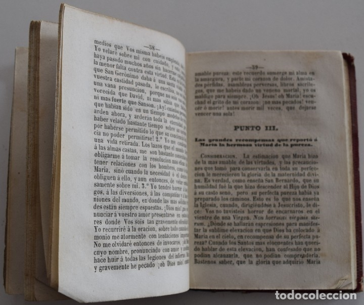 Libros antiguos: MANÁ DE MARÍA, NOVENA COMPLETA EN HONOR DE MARÍA SANTÍSIMA - VALENCIA AÑO 1862 - Foto 4 - 178052018