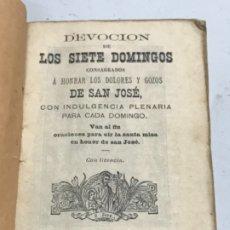 Libros antiguos: LIBRO DE LA DEVOCIÓN DE LOS SIETE DOMINGOS. BARCELONA 1890. . Lote 178636628