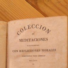 Libros antiguos: COLECCIÓN DE MEDITACIONES ILUSTRADAS CON REFLEXIONES MORALES. Lote 178932406