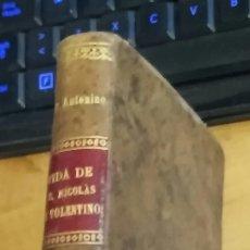 Livres anciens: VIDA DE SAN NICOLÁS DE TOLENTINO. TONNA-BARTHET, ANTONINO M.. Lote 179015853