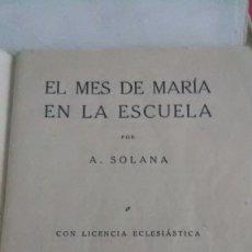 Libros antiguos: MES DE MARIA. Lote 179019292