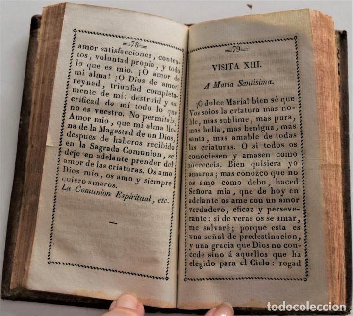 Libros antiguos: VISITAS AL SANTÍSIMO SACRAMENTO Y A MARÍA SANTÍSIMA - BEATO ALFONSO MARÍA LIGUORI - MÉJICO 1835 - Foto 6 - 179183068