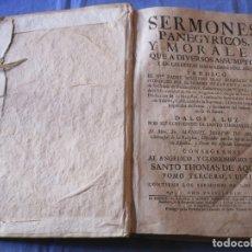 Libros antiguos: SERMONES PANEGYRICOS Y MORALES PREDICADOS POR FRAY DOMINGO PEREZ 1746. Lote 179394312
