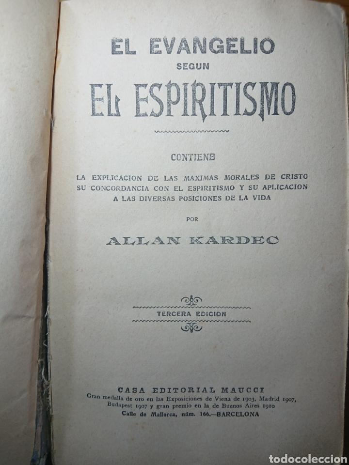 Libros antiguos: El Evangelio según el Espiritismo, Allan Kardec, Editoral Maucci - Foto 3 - 179396491