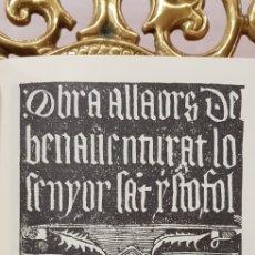 Libros antiguos: OBRA A LLAORS DE SEN CRISTOFOL.FACSIMIL.. Lote 180026383