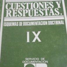 Libros antiguos: CUESTIONES Y RESPUESTAS IX 1979. . Lote 180033502