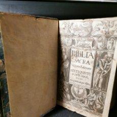 Libros antiguos: BIBLIA SACRA. VULGATEA EDITIONS. SIXTI QUINTO.. PONT MAX. IVS SV. AÑO 1620. BUEN ESTADO. 975+50 PG. Lote 180034495