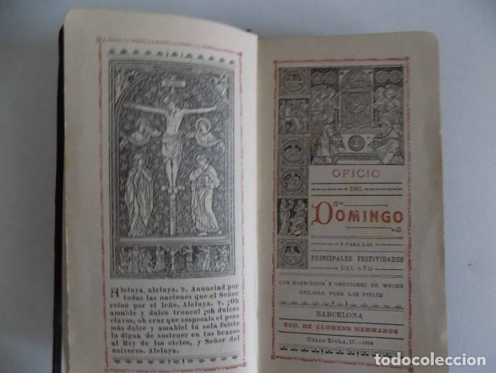 LIBRERIA GHOTICA. BREVIARIUM MODERNISTA. OFICIO DEL DOMINGO.1904. PIEL Y CORTES EN ORO. (Libros Antiguos, Raros y Curiosos - Religión)
