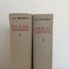 Libros antiguos: OBRAS COMPLETAS. 2 TOMOS. SAN BERNARDO. BAC. BIBLIOTECA DE AUTORES CRISTIANOS. 1953. Lote 190703352