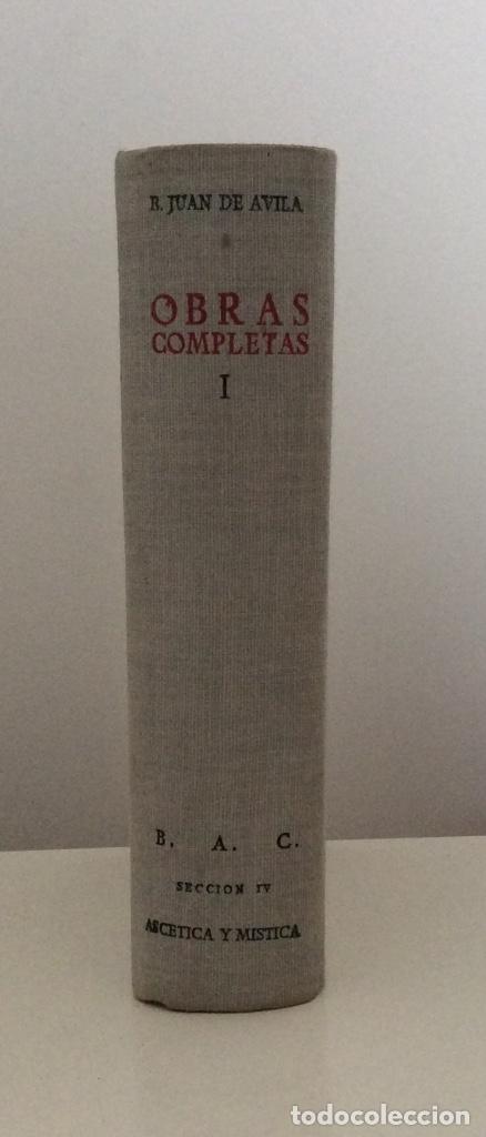 OBRAS COMPLETAS. TOMO I. BEATO JUAN DE ÁVILA. BAC. BIBLIOTECA DE AUTORES CRISTIANOS. 1952 (Libros Antiguos, Raros y Curiosos - Religión)