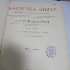 Libros antiguos: LA SAGRADA BIBLIA. FELIX TORRES AMAT. TOMO 1º. 1883. ANTIGUO TESTAMENTO. ILUSTRADO POR DORE. LEER. Lote 180995090