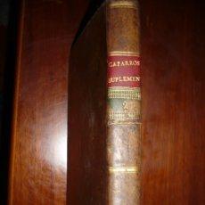 Libros antiguos: SUPLEMENTO ULTIMA EDICION DEL AÑO CHRISTIANO JUAN DE CROISET 1793 MADRID TOMO 2º EDIC 1ª. Lote 181225011