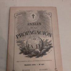 Libros antiguos: 1904 ANALES DE LA PROPAGACION DE LA FÉ PÍO X. Lote 181553820