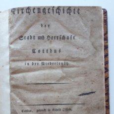 Libros antiguos: 1798 KIRCHENGESCHICHTE DER STADT UND HERRSCHAFT COTTBUS IN DER NIEDERLAUSITZ, UNICO EN INTERNET. Lote 181928088