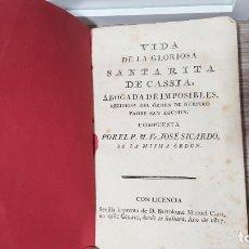 Livros antigos: LIBRO SANTA RITA CASIA. Lote 182253222