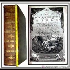 Libros antiguos: LIBRE INTERPRETACION DE LA BIBLIA DE JOHN BROWN 1812 - GRABADOS A TODA PAG - 43,5CM X 29CM X 10,5CM. Lote 182255765