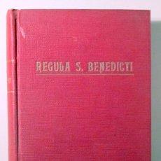 Libros antiguos: REGULA S. BENEDICTI - SUBLACI 1925. Lote 182282338