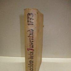 Libros antiguos: INSTRUCCION DE LA JUVENTUD EN LA PIEDAD CHRISTIANA...GOBINET, CHARLES. 1773.. Lote 182400896