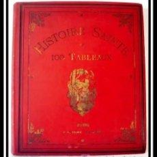 Libros antiguos: HISTORIA SANTA EN 100 CUADROS , S. XIX GRAN TAMAÑO 33CM X 28CM - OBRA COMPLETA. Lote 182404371