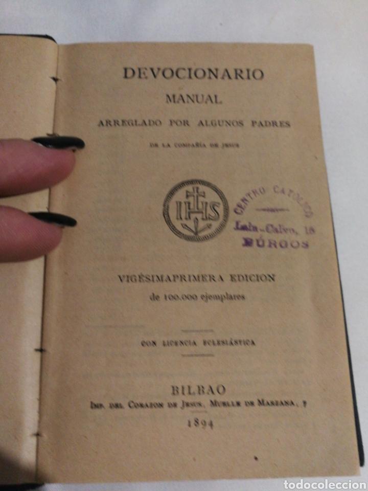 DEVOCIONARIO MANUAL EJERCICIOS COTIDIANOS CRISTIANOS.1894 (Libros Antiguos, Raros y Curiosos - Religión)