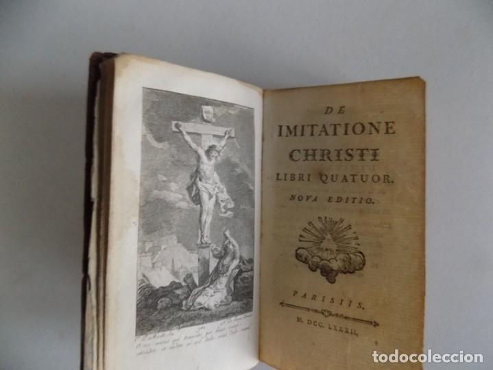 LIBRERIA GHOTICA. DELICIOSO LIBRO MINIATURA DEL SIGLO XVIII.DE IMITATIONE CHRISTI.1782. PIEL.KEMPIS. (Libros Antiguos, Raros y Curiosos - Religión)