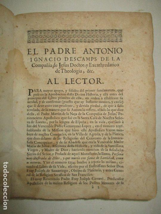 Libros antiguos: MYSTICA CIUDAD DE DIOS, MILAGRO DE SU OMNIPOTENCIA, Y ABYSMO DE LA GRACIA. 1684. - Foto 3 - 182969306