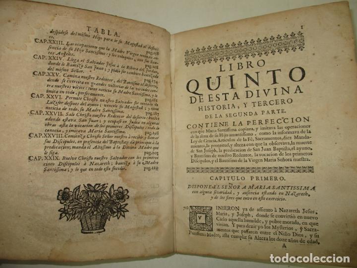 Libros antiguos: MYSTICA CIUDAD DE DIOS, MILAGRO DE SU OMNIPOTENCIA, Y ABYSMO DE LA GRACIA. 1684. - Foto 4 - 182969306