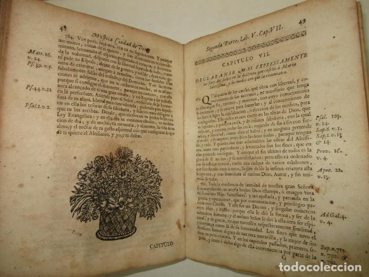 Libros antiguos: MYSTICA CIUDAD DE DIOS, MILAGRO DE SU OMNIPOTENCIA, Y ABYSMO DE LA GRACIA. 1684. - Foto 5 - 182969306