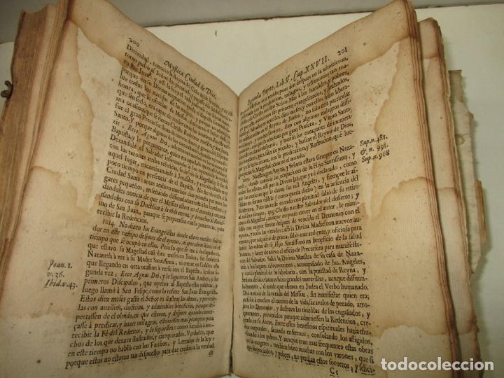 Libros antiguos: MYSTICA CIUDAD DE DIOS, MILAGRO DE SU OMNIPOTENCIA, Y ABYSMO DE LA GRACIA. 1684. - Foto 6 - 182969306