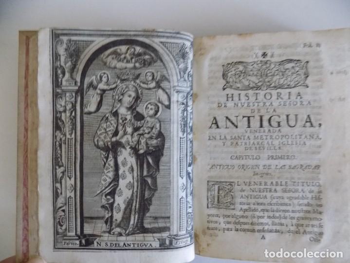 LIBRERIA GHOTICA. ANTONIO DE SOLIS. HISTORIA DE NUESTRA SEÑORA DE LA ANTIGUA IGLESIA DE SEVILLA.1739 (Libros Antiguos, Raros y Curiosos - Religión)