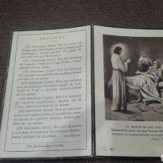 Libros antiguos: LIBRO CON SOLO DOS HOJAS -LA MUERTE DE SAN JOSE. Lote 183056775
