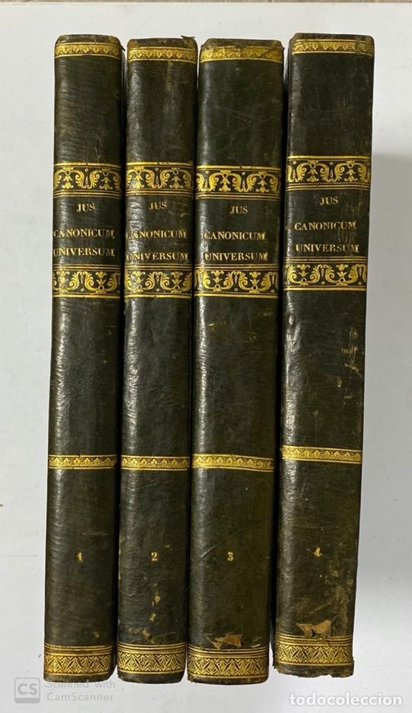 Usado, JUS CANONICUM UNIVERSUM CLARA METHODO QUINQUE LIBRORUM. R.P.F. ANACLETO. VENETIS, 1726. 4 TOMOS. segunda mano